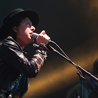 Carl Barât performing live with The Libertines at The Manchester Phones4U Arena on the second night of their Anthems For Doomed Youth Tour