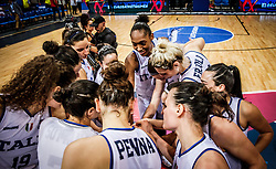 Players of Italy celebrate after winning during basketball match between Women National teams of Italy and Slovenia in Group phase of Women's Eurobasket 2019, on June 30, 2019 in Sports Center Cair, Nis, Serbia. Photo by Vid Ponikvar / Sportida