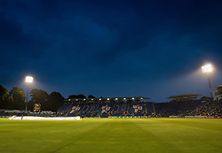 A general view of The Sophia Gardens, home of Glamorgan  between innings<br /> <br /> Photographer Simon King/Replay Images<br /> <br /> Vitality Blast T20 - Round 14 - Glamorgan v Surrey - Friday 17th August 2018 - Sophia Gardens - Cardiff<br /> <br /> World Copyright © Replay Images . All rights reserved. info@replayimages.co.uk - http://replayimages.co.uk