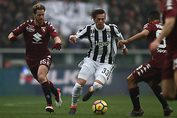 February 18, 2018 - Turin, Italy - Juventus forward Federico Bernardeschi (33) in action during the Serie A football match n.25 TORINO - JUVENTUS on 18/02/2018 at the Stadio Olimpico Grande Torino in Turin, Italy. (Credit Image: © Matteo Bottanelli/NurPhoto via ZUMA Press)