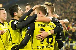 26.11.2013, Signal Iduna Park, Dortmund, GER, UEFA CL, Borussia Dortmund vs SSC Neapel, Gruppe F, im Bild `Jakub Blaszczykowski (Borussia Dortmund), bramka, radosc, gol, goal, Marco Reus (Borussia Dortmund) // `Jakub Blaszczykowski (Borussia Dortmund), bramka, radosc, gol, goal, Marco Reus (Borussia Dortmund) during UEFA Champions League group F match between Borussia Dortmund and SSC Napoli at the Signal Iduna Park in Dortmund, Germany on 2013/11/26. EXPA Pictures © 2013, PhotoCredit: EXPA/ Newspix/ Lukasz Skwiot / Foto Olimpik<br /> <br /> *****ATTENTION - for AUT, SLO, CRO, SRB, BIH, MAZ, TUR, SUI, SWE only*****