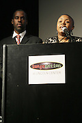 l to r: Greg gates and Moikgansti Kgama at The ImageNation celebration for the 20th Anniversary of ' Do the Right Thing' held Lincoln Center Walter Reade Theater on February 26, 2009 in New York City. ..Founded in 1997 by Moikgantsi Kgama, who shares executive duties with her husband, Event Producer Gregory Gates, ImageNation distinguishes itself by screening works that highlight and empower people from the African Diaspora.