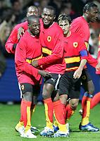 Fotball<br /> Foran VM 2006 - Angola<br /> Foto: imago/Digitalsport<br /> NORWAY ONLY<br /> <br /> 25.06.2006 <br /> <br /> Mantorras (re.) und Mendonca (beide Angola) - Torjubel