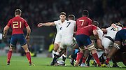Twickenham, England. Danny CARE, directing the push by the English forwards, during the  QBE International. England vs France [World cup warm up match]  Saturday.  15.08.2015,  [Mandatory Credit. Peter SPURRIER/Intersport Images].