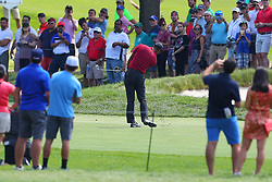 August 26, 2018 - Paramus, NJ, U.S. - PARAMUS, NJ - AUGUST 26:  Tiger Woods of the United States plays his shot from the fairway   during the final round of The Northern Trust on August 26, 2018 at the Ridgewood Championship Course in Ridgewood, New Jersey. (Photo by Rich Graessle/Icon Sportswire) (Credit Image: © Rich Graessle/Icon SMI via ZUMA Press)