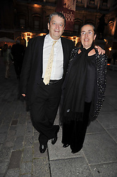 SIR NORMAN ROSENTHAL and his wife Manuela Mena Marquez attends the private view of Anish Kapoor's latest exhibition at the Royal Academy of Arts, Piccadilly, London on 22nd September 2009