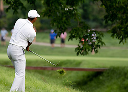 May 31, 2018 - Dublin, OH, U.S. - DUBLIN, OH - MAY 31: Tiger Woods plays out of the rough during the first round of the Memorial Tournament at Muirfield Village Golf Club in Dublin, Ohio on May 31, 2018.(Photo by Jason Mowry/Icon Sportswire) (Credit Image: © Jason Mowry/Icon SMI via ZUMA Press)