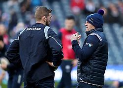 Scotland coach Gregor Townsend (right) before the NatWest 6 Nations match at BT Murrayfield, Edinburgh.