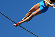 Melissa Sakowski wins the women's pole vault with a height of 4.22 meters at the Ben Brown Track & Field Invitational at Hilmer Lodge Stadium on the campus of Mt. SAC on March 8, 2008.