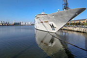 Sunborn London, a floating super-yacht hotel docked in Royal Victoria Dock is believed to be serving as one of the makeshift hospitals during coronavirus outbreak near Excell Center in London, Thursday, March 26, 2020. All flights from London City Airport have been cancelled as a result of the coronavirus outbreak since last night.<br /> The British Government announced Tuesday, that the ExCel Center in east London will become a 4,000-bed temporary hospital to deal with future coronavirus patients, to be called NHS Nightingale. (Photo/Vudi Xhymshiti)