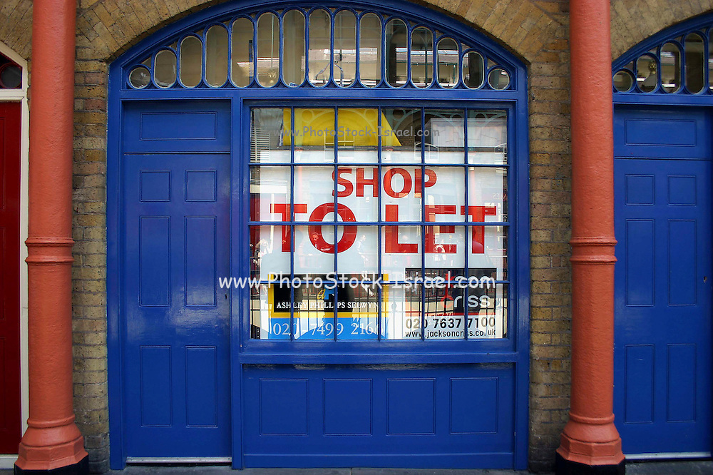 A blue door To Let London UK