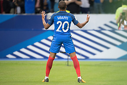 Kylian MBappe of France celebrates his goal during the 2018 World Cup group A qualifying football match between France and Netherlands at the Stade de France on August 31, 2017 in Saint-Denis, FRANCE. France won Netherlands with 4-0. (Credit Image: © Jack Chan/Chine Nouvelle/Xinhua via ZUMA Wire)