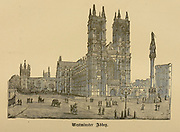 Westminster Abbey, London From ' The pictorial Catholic library ' containing seven volumes in one: History of the Blessed Virgin -- The dove of the tabernacle -- Catholic history -- Apparition of the Blessed Virgin -- A chronological index -- Pastoral letters of the Third Plenary. Council -- A chaplet of verses -- Catholic hymns  Published in New York by Murphy & McCarthy in 1887