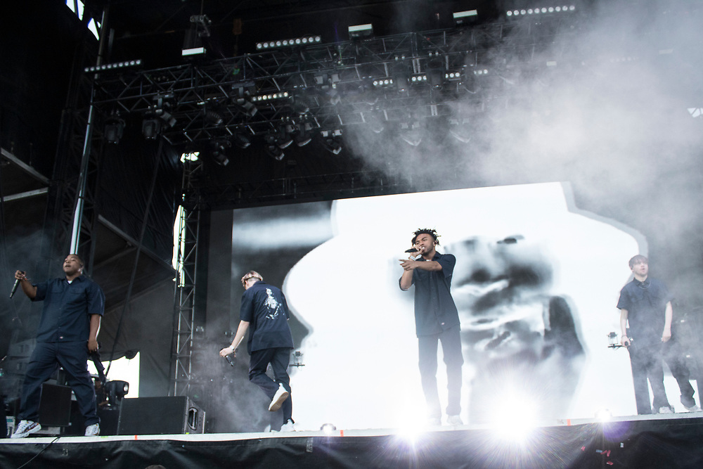 Brockhampton performs at the Austin City Limits Music Festival in Austin, TX on October 8, 2018.