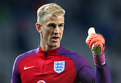 Joe Hart of England gives a thumbs up - Mandatory by-line: Robbie Stephenson/JMP - 11/10/2016 - FOOTBALL - RSC Stozice - Ljubljana, England - Slovenia v England - World Cup European Qualifier