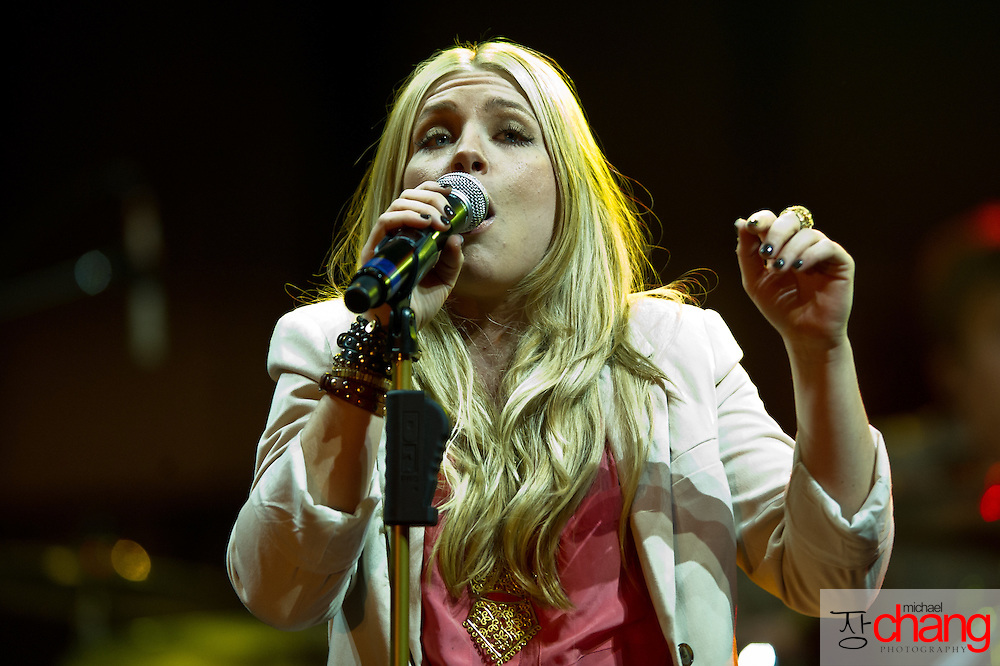 March 4 2012: Dara Maclean performs at Winter Jam at the Mitchell Center in Mobile, AL.