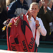 Jelena Dokic of Australia on her way to victory over Karolina Sprem of Croatia during the first round of the French Open Tennis Tournament in Paris, France on Tuesday, May 26, 2009. Photo Tim Clayton.