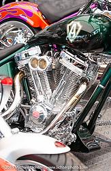 An Arlen Ness custom at Daytona Bike Week. Daytona Beach, FL. Photography ©2003 Michael Lichter.