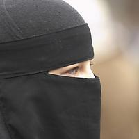Muslim woman wearing niqab<br />
