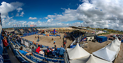 Centercourt view during the final women. The Final Day of the DELA NK Beach volleyball for men and women will be played in The Hague Beach Stadium on the beach of Scheveningen on 23 July 2020 in Zaandam.