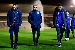 Lucas Tomlinson of Bristol Rovers,  Kieron Phillips and Luca Hoole of Bristol Rovers arrives at Home Park prior to kick off - Mandatory by-line: Ryan Hiscott/JMP - 17/12/2019 - FOOTBALL - Home Park - Plymouth, England - Plymouth Argyle v Bristol Rovers - Emirates FA Cup second round replay