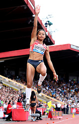 Great Britain's Jazmin Sawyers competes in the Women's Long Jump during the Muller Grand Prix at Alexander Stadium, Birmingham.