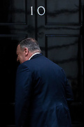 January 30, 2020, London, England, United Kingdom: U.S. Secretary of State Mike Pompeo arrives at 10 Downing Street in London, Thursday, Jan. 30, 2020. Pompeo is in London on the cusp of Britain's departure from the European Union for talks focused on a post-Brexit free trade deal and the U.K.'s decision to allow the Chinese tech company Huawei to play a role in the country's high-speed wireless network. (Credit Image: © Vedat Xhymshiti/ZUMA Wire)
