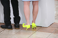 Director Flora Lau's yellow shoes at the Bends film photocall at the Cannes Film Festival 18th May 2013