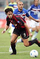 Fotball<br /> Italia Serie A<br /> 14.10.2006<br /> Sampdoria v Milan 1-1<br /> Foto: Inside/Digitalsport<br /> NORWAY ONLY<br /> <br /> Filippo Inzaghi (Milan), Angelo Palombo (Sampdoria)