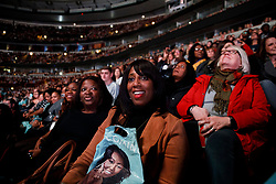 "Attendees listen to Michelle Obama and Oprah Winfrey discuss the former first lady's book ""Becoming"" during the first stop of her book tour at the United Center Tuesday, November 13, 2018 in Chicago, IL, USA. Photo by Armando L. Sanchez/Chicago Tribune/TNS/ABACAPRESS.COM"