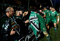 London Irish players thank fans for their support at Yorkshire Carnegie in the 1st leg of their IPA Championship Final - Mandatory by-line: Robbie Stephenson/JMP - 17/05/2017 - RUGBY - Headingley Carnegie Stadium - Leeds, England - Yorkshire Carnegie v London Irish - Greene King IPA Championship Final 1st Leg