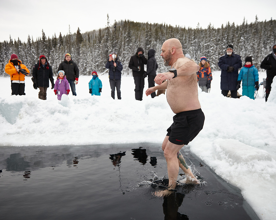 2021 Ice Plunge at Chadburn Lake. Proceeds raised support a Run for Life well drilling program in rural Kenya that brings clean water to those who need it the most. Props to Yukon Ice Water Swimmers for clearing the ice for this great cause!