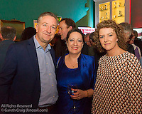 (l to r) Ruan O'Tiarnaigh, Frances Hill, and Louise Boyle at the reunion night to celebrate 50 years of the Irish Fireball Class, held at the Royal St George YC.
