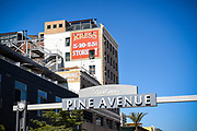 Pine Avenue Signage In Long Beach California