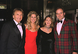 Left to right, racing driver DEREK BELL, MISS MISTI SPRINKLE and MR & MRS LUDOVIC LINDSAY, he is the son of Lady Amabel Lindsay, at a dinner in London on 31st October 1997.MCR 21