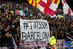 August 20, 2017 - Barcelona, Catalonia, Spain - tribute for the victims of the Barcelona attack before La Liga match between F.C. Barcelona v Alaves, in Barcelona, on September 10, 2016. Photo: Edi Capmany/Urbanandsport/Nurphoto  (Credit Image: © Joan Valls/NurPhoto via ZUMA Press)