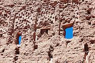 Wall of the Stork Kasbah (Kasbah des Cigognes) in Ouarzazate.