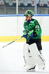 Zan Us of HK SZ Olimpija during ice hockey match between HK SZ Olimpija Ljubljana and Steinbach Black Wings Linz in bet-at-home ICE Hockey League, on September 26, 2021 in Hala Tivoli, Ljubljana, Slovenia. Photo by Morgen Kristan / Sportida