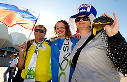 Family of Samir Handanovic enjoy prior to the 2010 FIFA World Cup South Africa Group C Third Round match between Slovenia and England on June 23, 2010 at Nelson Mandela Bay Stadium, Port Elizabeth, South Africa.  (Photo by Vid Ponikvar / Sportida)