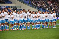 Groupe Italie - 15.03.2015 - Rugby - Italie / France - Tournoi des VI Nations -Rome<br /> Photo : David Winter / Icon Sport