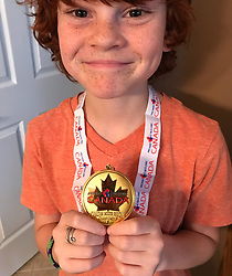 """David Arquette releases a photo on Twitter with the following caption: """"""""Got my medal today for the Canadian Indoor Archery Nationals! GOLD! Thanks @ArcheryCanada and @shawnriggs!"""""""". Photo Credit: Twitter *** No USA Distribution *** For Editorial Use Only *** Not to be Published in Books or Photo Books ***  Please note: Fees charged by the agency are for the agency's services only, and do not, nor are they intended to, convey to the user any ownership of Copyright or License in the material. The agency does not claim any ownership including but not limited to Copyright or License in the attached material. By publishing this material you expressly agree to indemnify and to hold the agency and its directors, shareholders and employees harmless from any loss, claims, damages, demands, expenses (including legal fees), or any causes of action or allegation against the agency arising out of or connected in any way with publication of the material."""