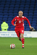 David Cotterill of Wales. Wales v Scotland, friendly international football match at the Cardiff City stadium, Cardiff, Wales, UK on Sat 14th Nov 2009.  pic by Andrew Orchard, Andrew Orchard sports photography