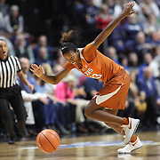 UNCASVILLE, CONNECTICUT- DECEMBER 4:  Ariel Atkins #23 of the Texas Longhorns in action during the UConn Huskies Vs Texas Longhorns, NCAA Women's Basketball game in the Jimmy V Classic on December 4th, 2016 at the Mohegan Sun Arena, Uncasville, Connecticut. (Photo by Tim Clayton/Corbis via Getty Images)