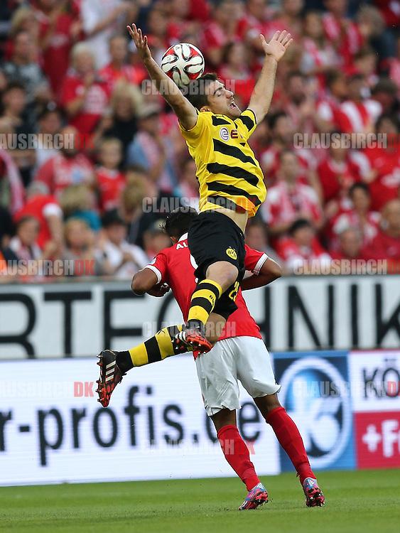FOOTBALL: Sokratis Papastathopoulos (Borussia Dortmund) during the Bundesliga match between 1. FSV Mainz 05 and Borussia Dortmund at Coface Arena on September 20, 2014 in Mainz, Germany. Photo: Claus Birch.