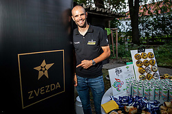 Reception of Slovenian rider Luka Mezgec after  he finished his first Tour de France 2020 and placed second at 2 stages, on September 21, 2020 in Joze Plecnik garden, Ljubljana, Slovenia. Photo by Vid Ponikvar / Sportida