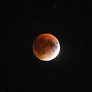 The full Blood Moon as seen on Cape Cod
