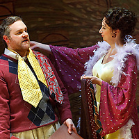 Picture shows :  Roland Wood (l) (as Robert Storch ) and German soprano Anita Bader (as his wife Christine) (r) during rehearsal of Richard Strauss's 'Intermezzo' for Scottish Opera. The Theatre Royal, Glasgow. .17/3/2011...Picture Drew Farrell..Tel : 07721-735041..Opening at the Theatre Royal, Glasgow on 26 March 2011...Conductor  Francesco Corti.Director   Wolfgang Quetes.Designer   Manfred Kaderk.Lighting       Matthias Hönig