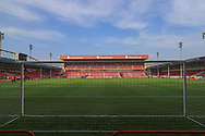 A general view inside The Banks's Stadium during the The FA Cup match between Walsall and Bristol Rovers at the Banks's Stadium, Walsall, England on 7 November 2020.