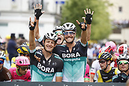 Marcus Burghardt (GER - Bora - Hansgrohe), Daniel Oss (ITA - Bora - Hansgrohe), Pawel Poljanski (POL - Bora - Hansgrohe) during the 105th Tour de France 2018, Stage 21, Houilles - Paris Champs-Elysees (115 km) on July 29th, 2018 - Photo Luca Bettini / BettiniPhoto / ProSportsImages / DPPI