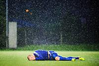 Fotball , 20. Mai 2014, 1. Divisjon<br /> Strømmen - Tromsø<br /> Zdenek Ondrasek ligger nede i situasjonen der Strømmens Mahmoud El Haj fikk direkte rødt kort<br /> Foto: Sjur Stølen , Digitalsport